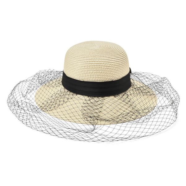 Ayliss Ladies Sun Hat Bowknot Wide Brim Straw Hat Elegant Panama Hat Beach Cap UV Protection