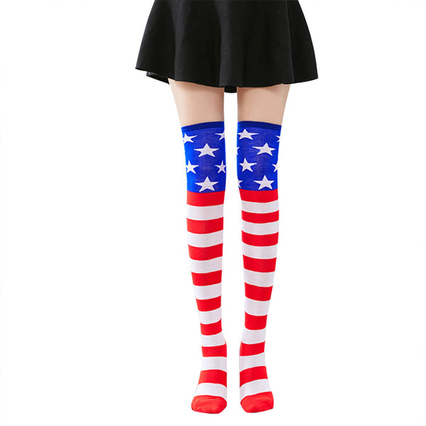 Ayliss  star patterned thigh high socks for women cosplay costume