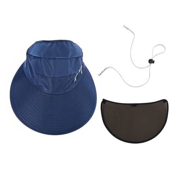 Ayliss Sun Hat Detachable Dustproof Baseball Cap for Women Outdoor Sports