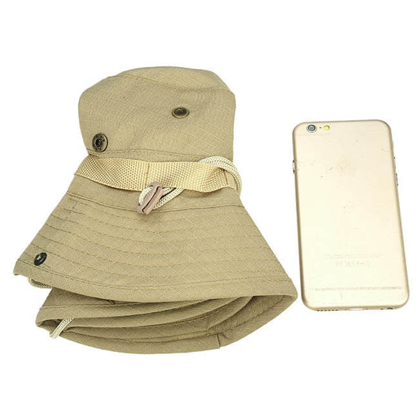 Ayliss Outdoor Boonie Hat Wide Brim Breathable Safari Fishing Hats UV Protection Foldable Military Cap
