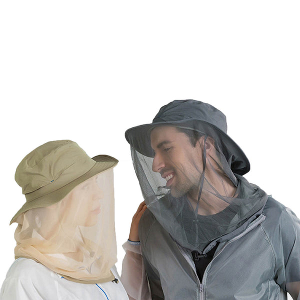 Ayliss unisex mosquito head net hat safari hat for outdoor activity