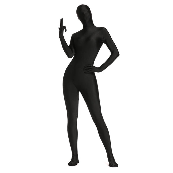 ycs008001 Ayliss adult zentai black body suit Halloween cosplay