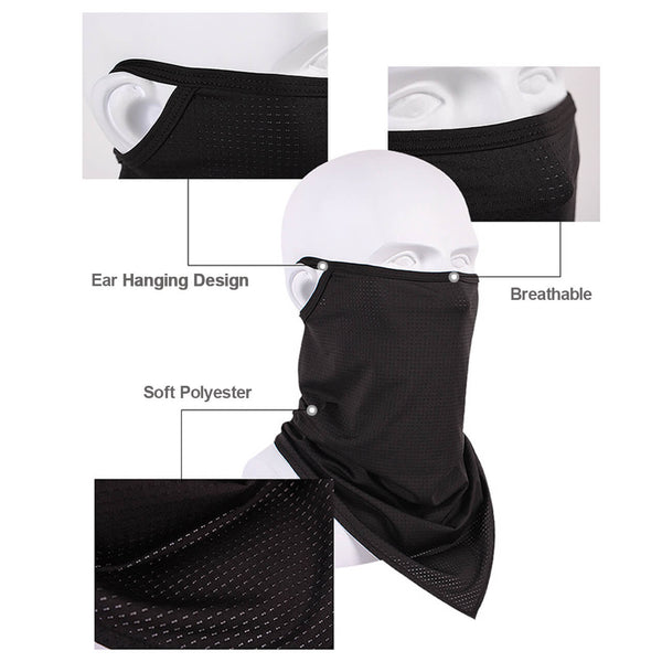 3pcs Face Mask Bandana, Motorcycle Earloop Face Mask for Riding Cycling Multifunctional Headwear