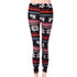 Women's Winter Knitted Leggings Snowflakes Reindeer Print Tight Pants