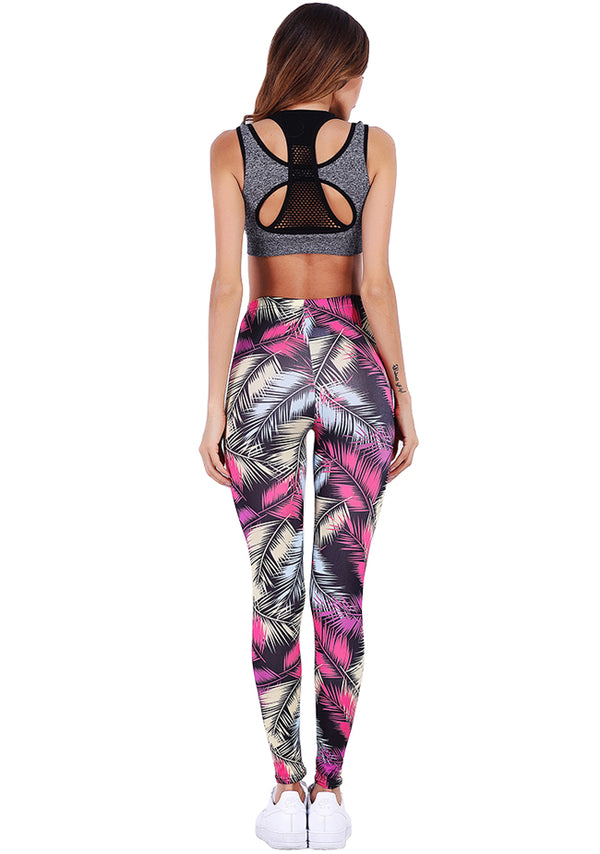 Ayliss Women Printed Yoga Workout Leggings Capris Stretchy Pants