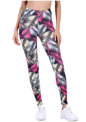 Ayliss Women Fashion Printed Yoga Workout Leggings Capris Stretchy Tights Pant