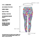 Ayliss Women Printed Stretch Leggings Elastic Pants Leopard Purple