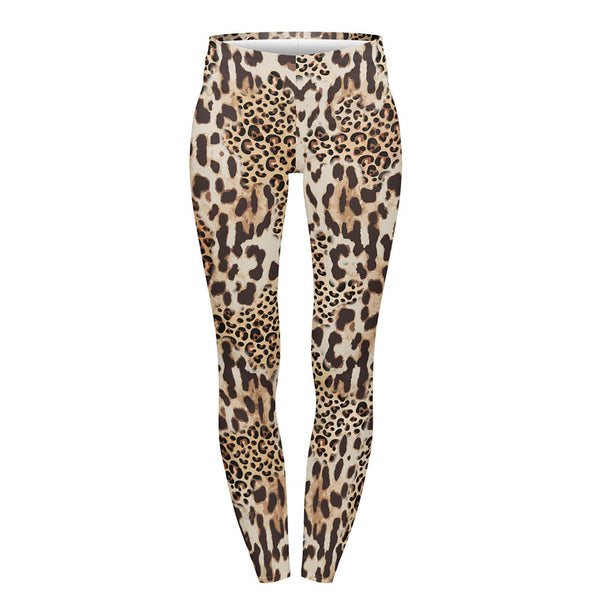 Ayliss Women Leopard Print Leggings High Waist Yoga Skinny Pants Elastic Tights Pants