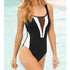 Women Mesh Front One Piece Bikini Swimsuit Monokini