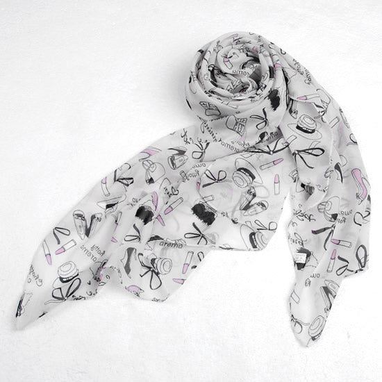 Women Chiffon silk Scarf Beauty Pattern Scarf Lightweight Wrap