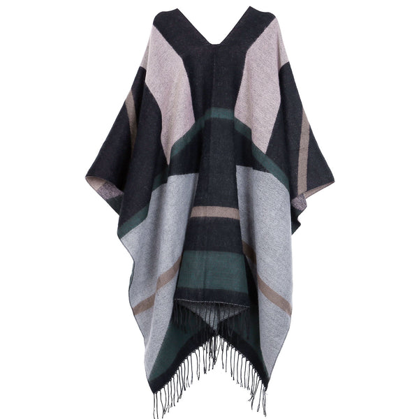 Women's Winter Shawl Wrap Cardigans Tassels Blanket Scarf Warm