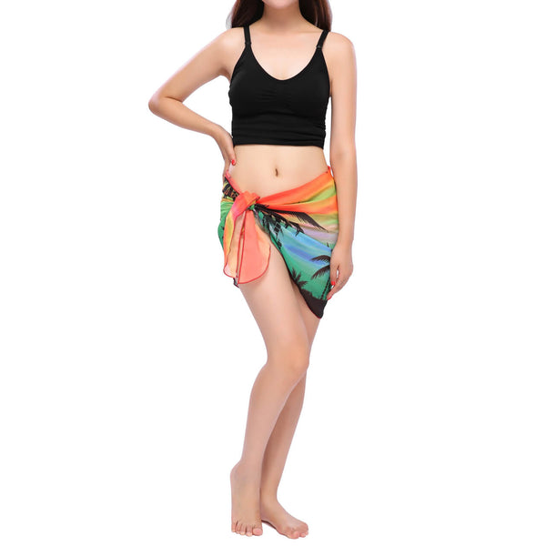 Ruffle Pareo Swimsuit Short