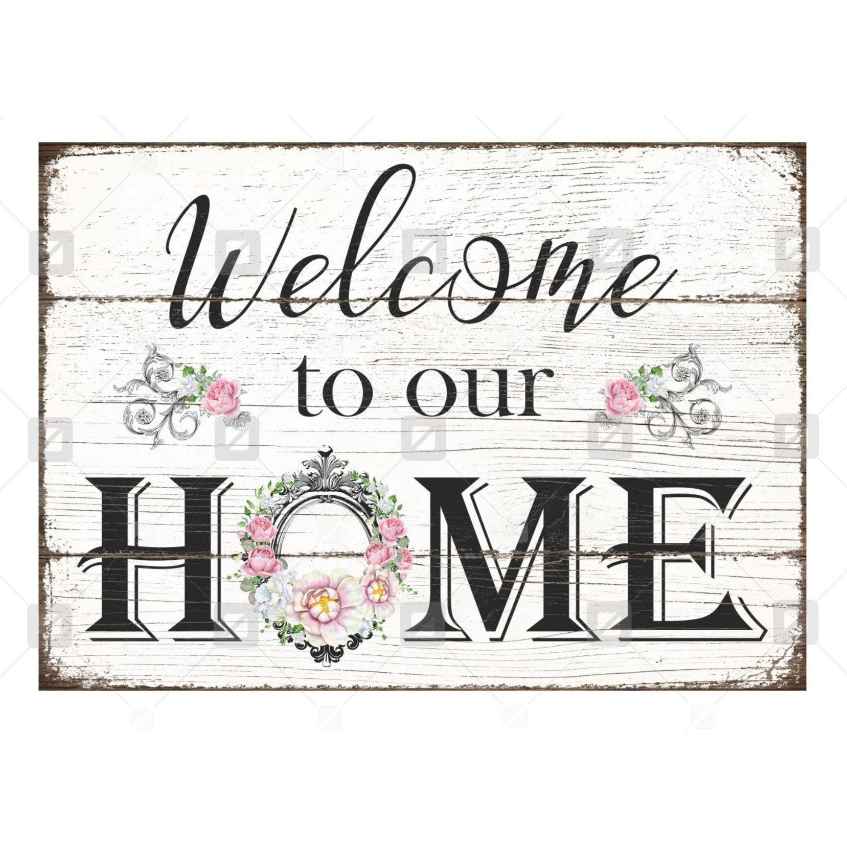 Vintage Welcome To Our Home Sign Wreath Enhancement Michelle S Adoorable Creations