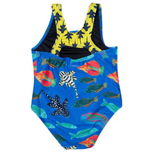 Blue Tropical Fish one piece swimsuit