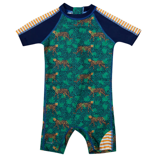 Green Cheetah sunsuit