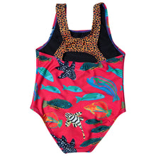 HappieCo Australian made girls swimmers with leopard print