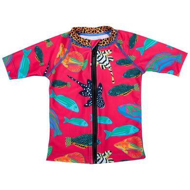 Pink Tropical Fish sunshirt