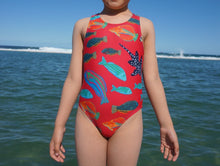 HappieCo beach wear girls swimmers fish pattern pink