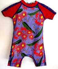 Australian flowering gum. Girls sunsuit. Girls beachwear
