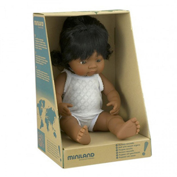 Miniland Doll - 38cm Hispanic Girl