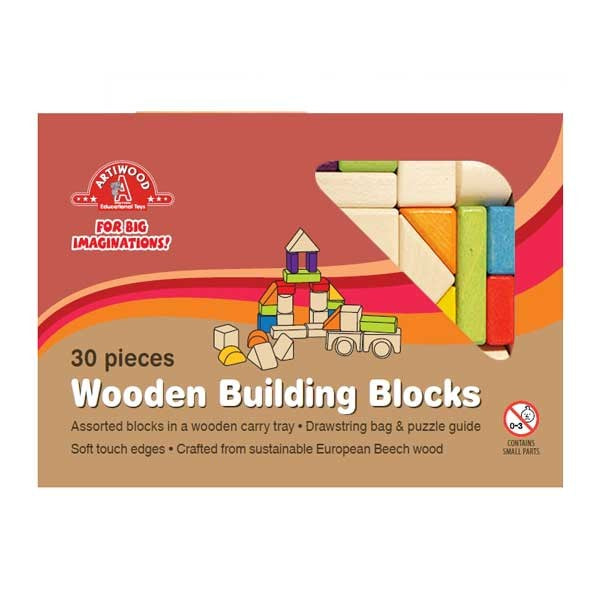 Artiwood - 30 piece Wooden Block Tray
