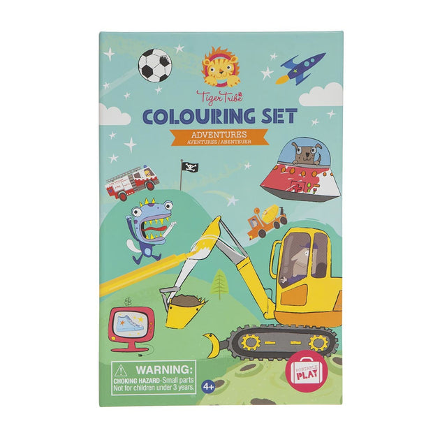 Tiger Tribe - Adventures Colouring Set