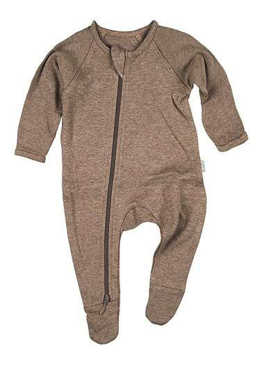 Toshi - Organic Onesie Long Sleeve Dreamtime Cocoa