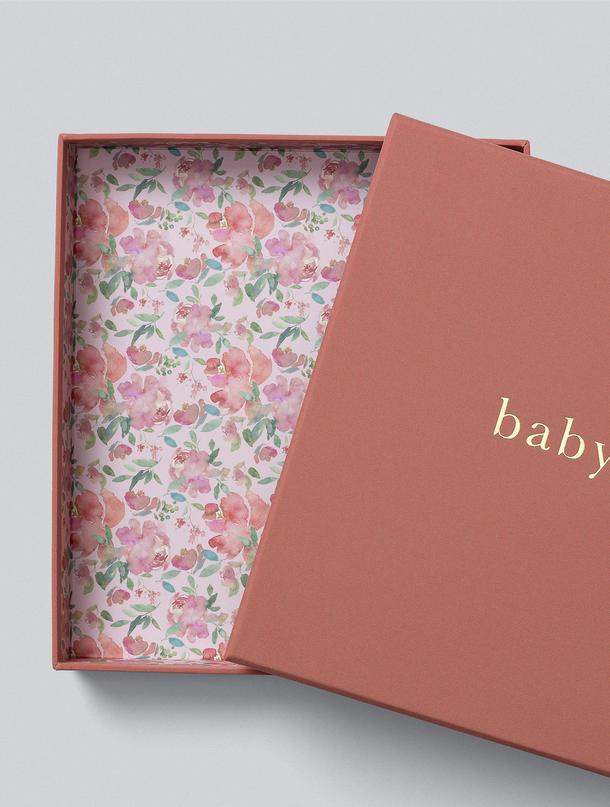 Write to Me Baby Books - Your First Five Years Boxed Blush