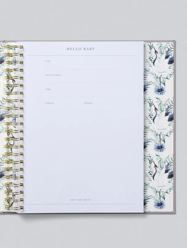 Write to Me Baby Books - Your First Five Years Boxed Light Grey