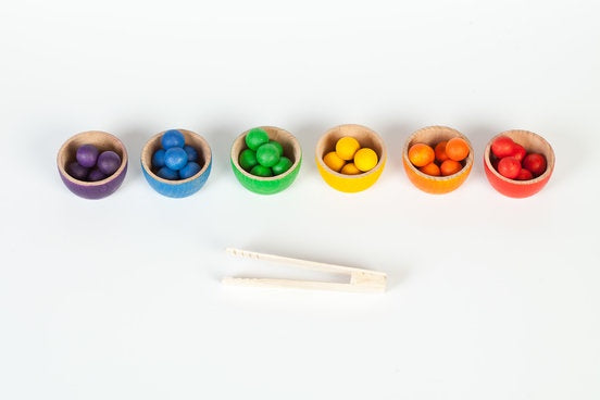 Grapat - Coloured Bowls and Marbles set