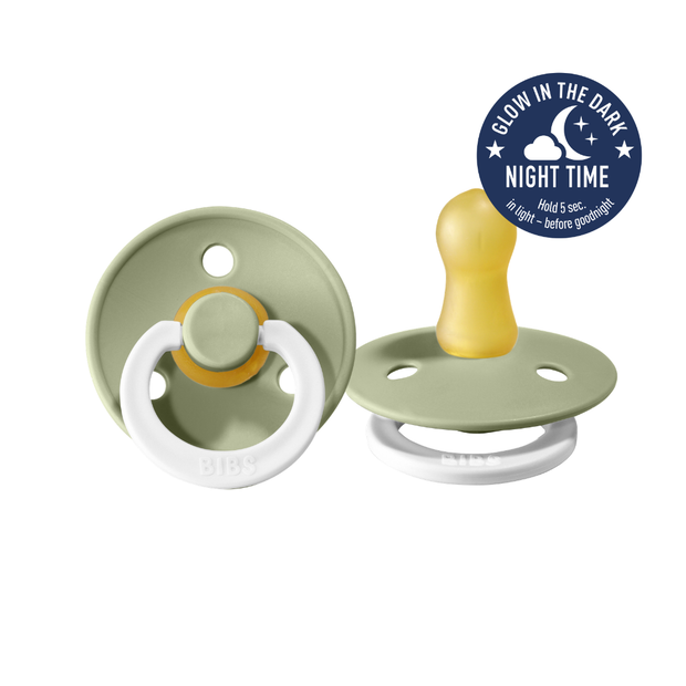 BIBS - Pacifier 2 pack Night Glow Sage
