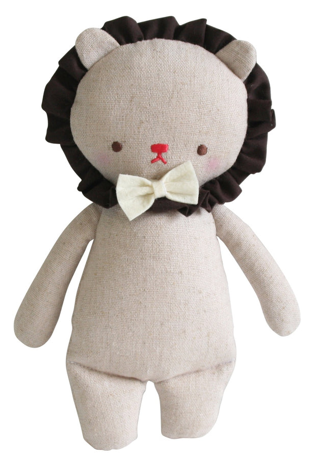 Alimrose - Linen Mini Lion Rattle