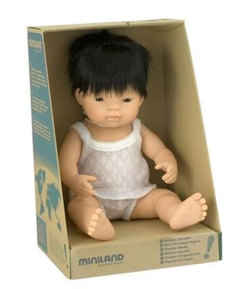 Miniland doll Asian 38cm