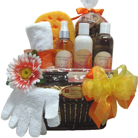 Amber Dream Bath & Body Gift Basket