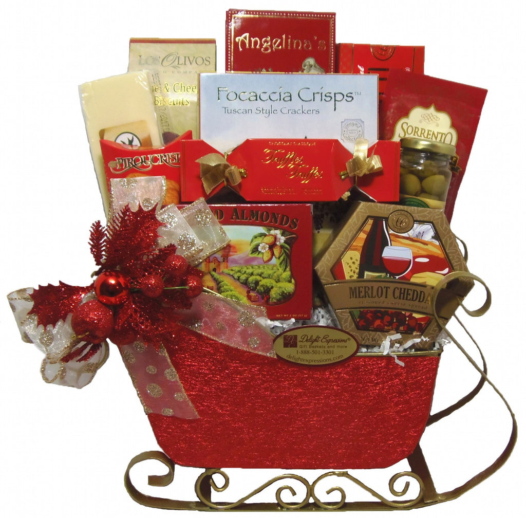 Tis the Season Christmas Gourmet Gift Basket, Holiday Food Baskets ...