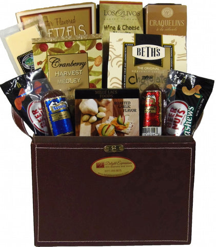 Wrapped Delights Gourmet Food Gift Basket