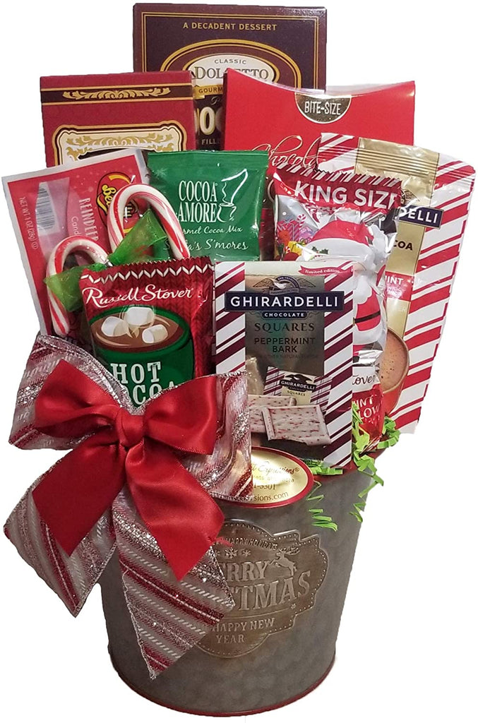 Santa Says…  Holiday Christmas Gift Basket (Small)