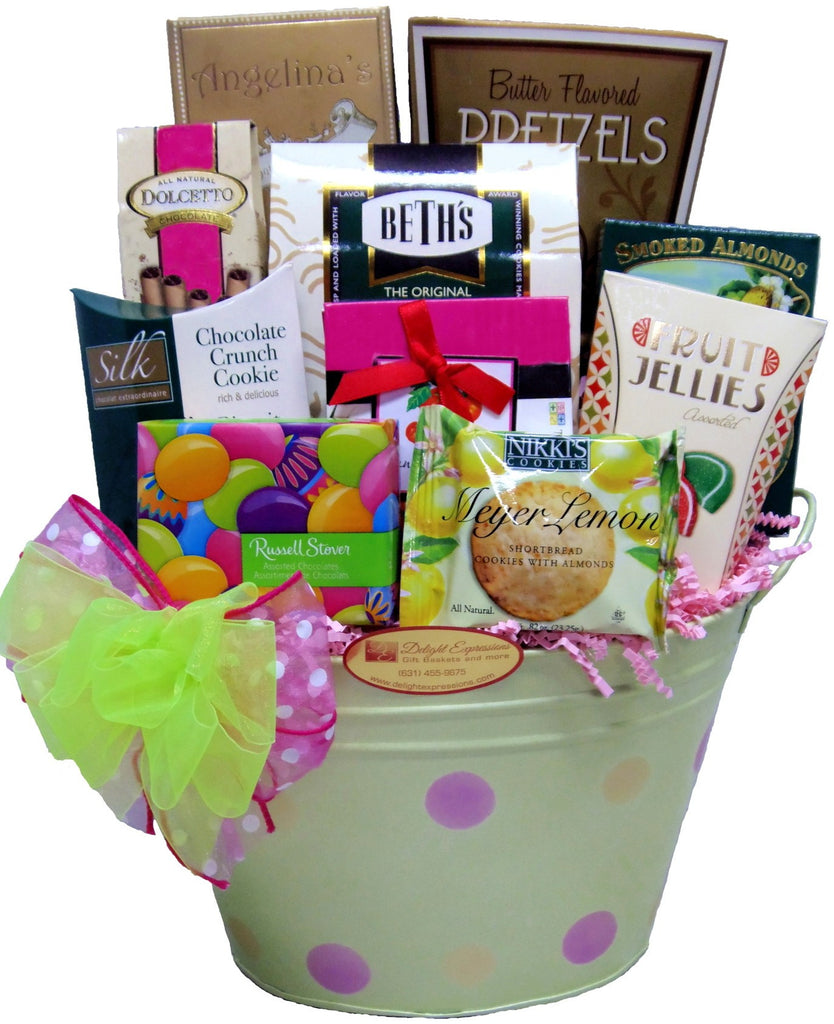 Blooming Wishes Gourmet Food Gift Basket