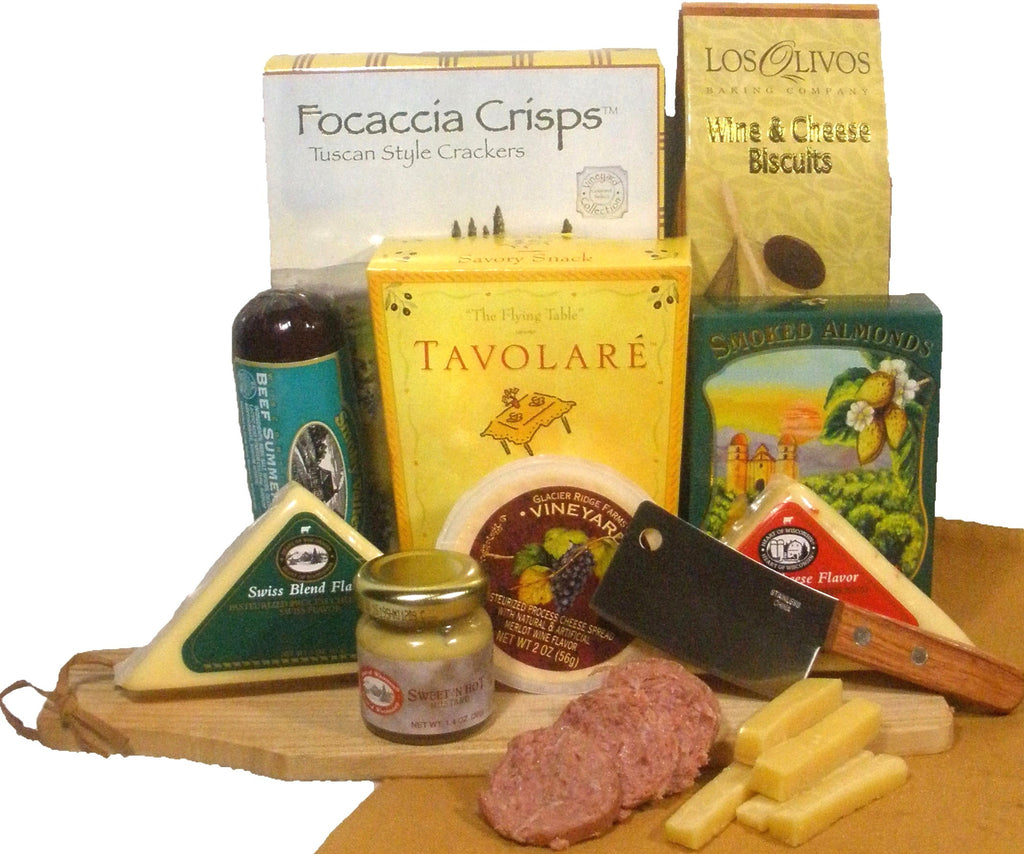 Meat and Cheese Pleaser Gourmet Food Gift