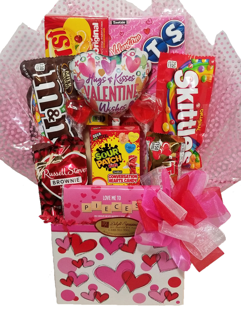 """From my Heart to Yours"" Candy and Chocolate Gift Basket"