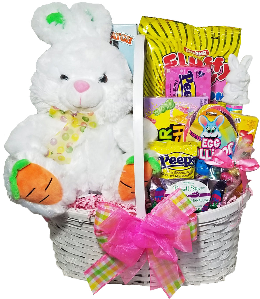 Hoppidy Hop Bunny Gift Basket For Kids - Premade Easter Basket for Girls