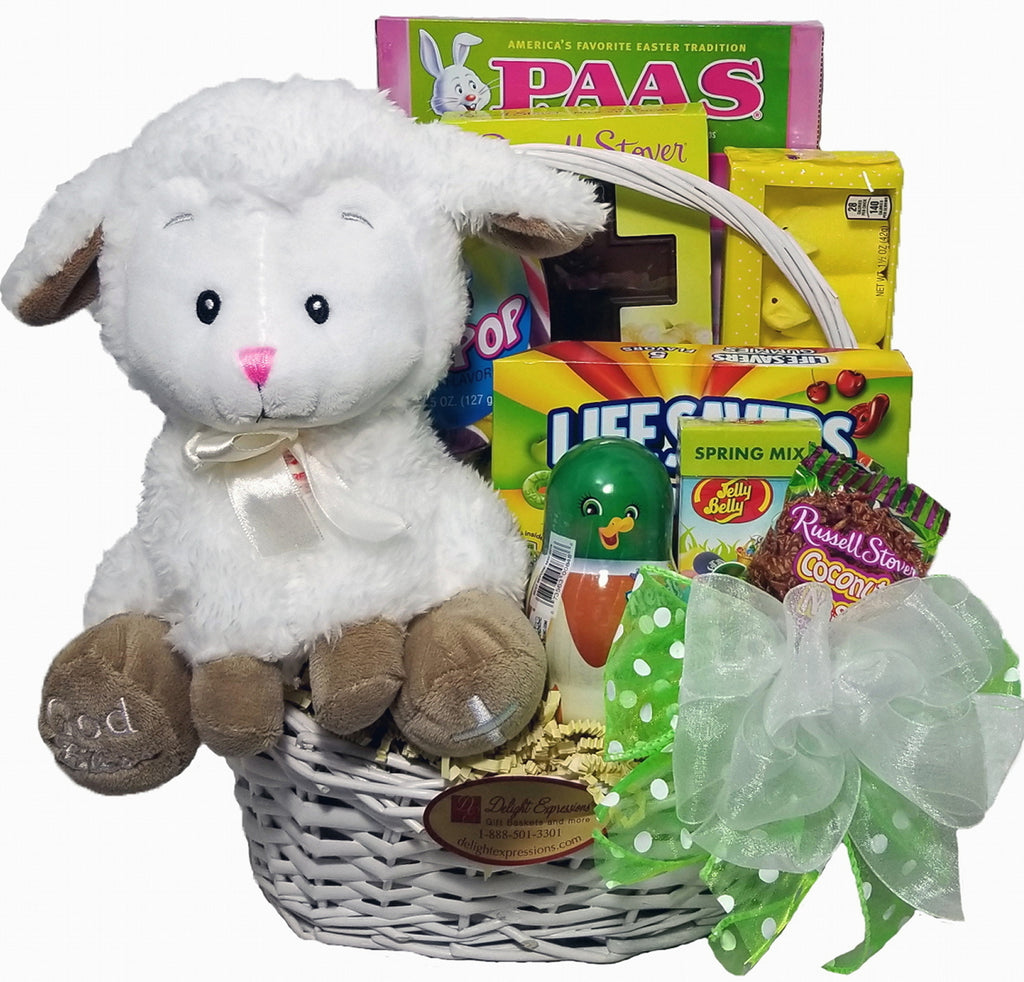 Little lamb easter gift basket for kids delight expressions little lamb easter gift basket for kids negle Image collections