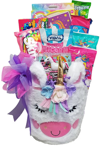 """Magical Unicorn"" Gift Basket for Kids"