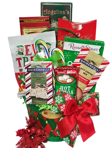 """Merry and Bright"" Christmas Gourmet Food Gift Basket"