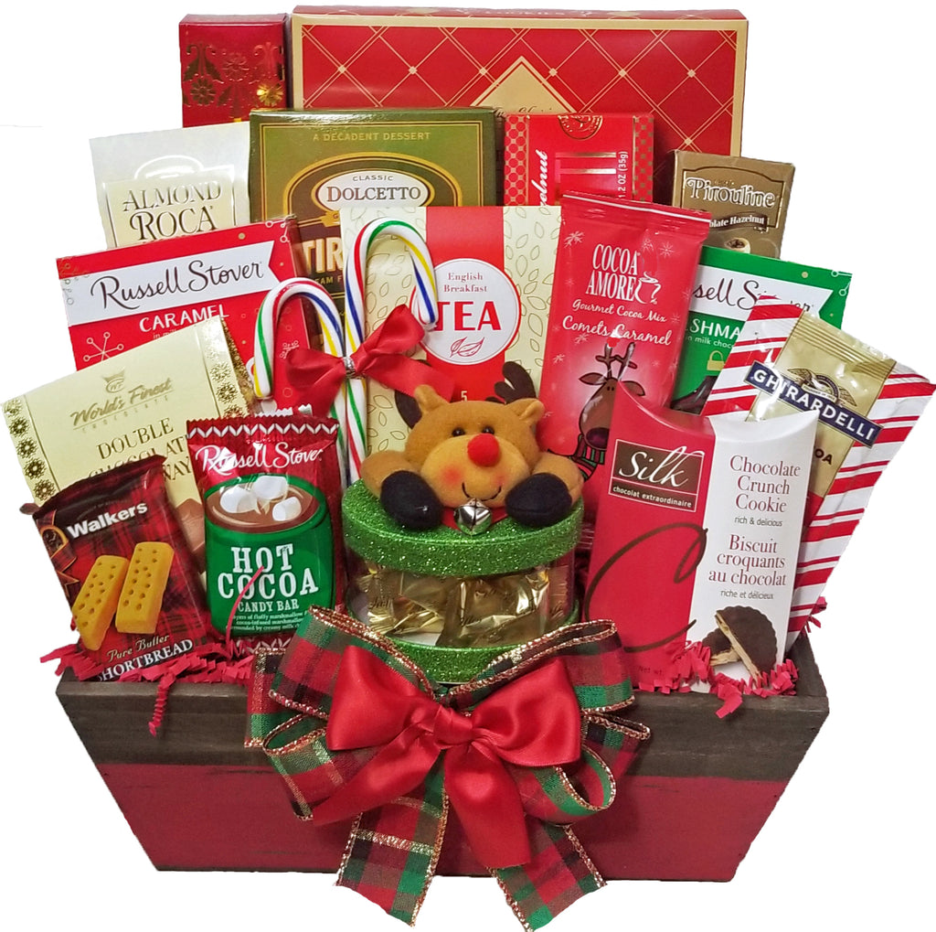 Warm Greetings Holiday Gourmet Gift Basket - Christmas Gift Basket Idea!