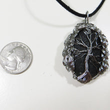 One of a Kind Stainless Steel Wire Tree of Life Stone Necklace
