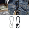 Multi-function Hook Keychain Cutting Outdoor Tools Hanging Buckle Keyring Camping Hiking Equipment Stainless Steel Survival Tool