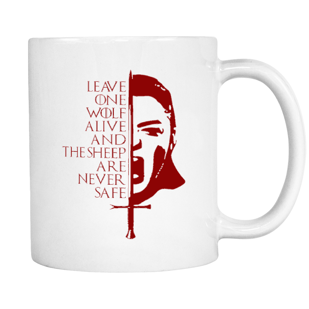 Never Safe White 11oz Mug