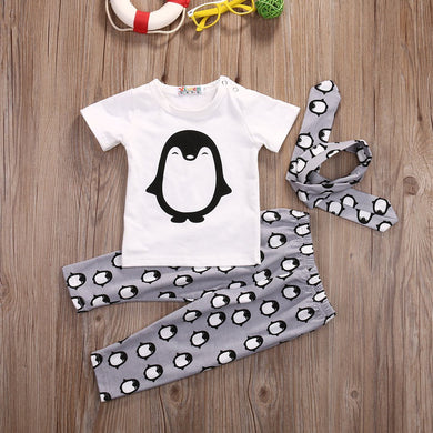 3Pcs Penguins Clothes Set