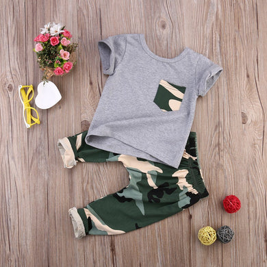 2pcs Camouflage Baby Clothes Set